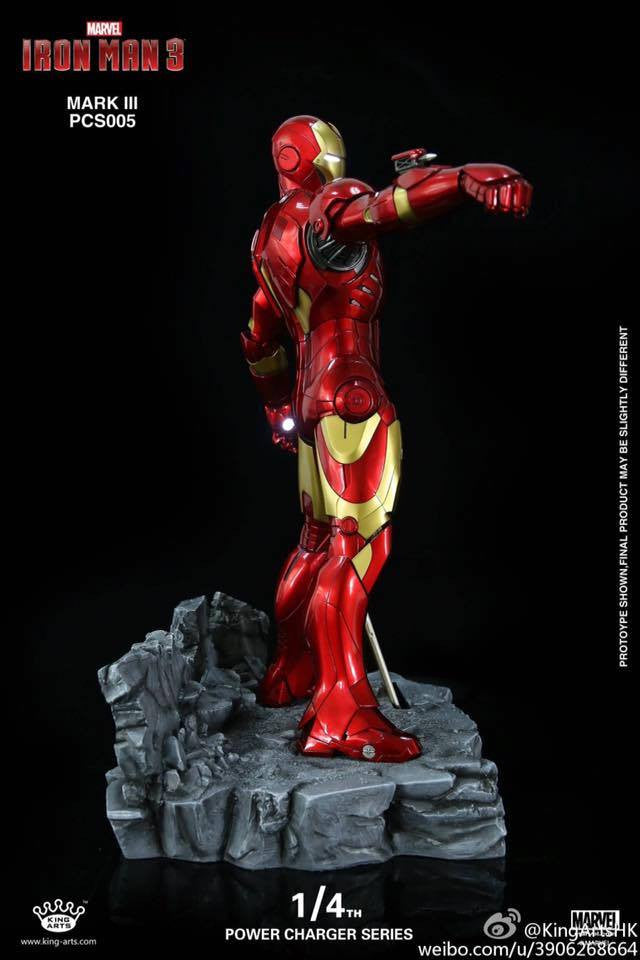 King Arts - Power Charger Series PCS005 - Iron Man 3 - 1/4th Scale Mark III Charger - Marvelous Toys - 4