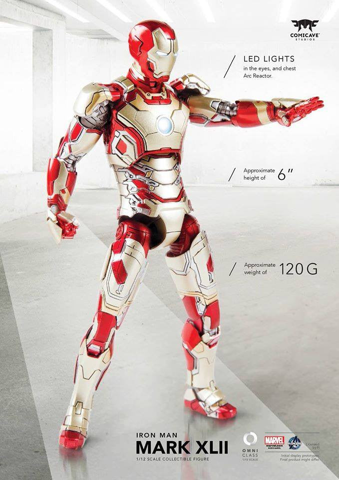 Comicave Studios - Omni Class: 1/12 Scale Iron Man Mark XLII with Sofa (SDCC 2016 EXCLUSIVE) - Marvelous Toys - 9