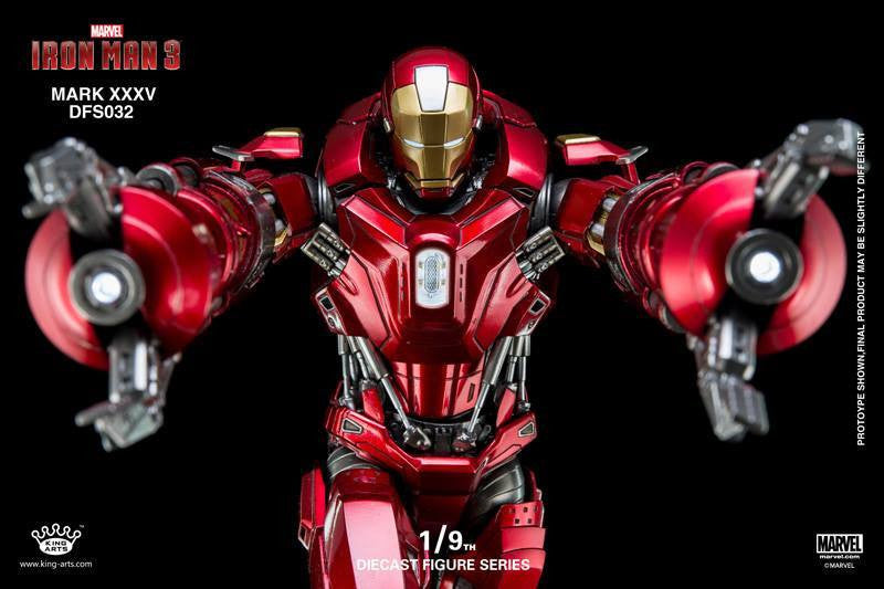 King Arts - DFS032 - Iron Man 3 - 1/9th Scale Iron Man Mark XXXV (Red Snapper) - Marvelous Toys - 9