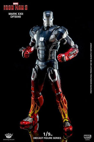 King Arts - DFS040 - Iron Man 3 - Iron Man Mark XXII (Hot Rod) - Marvelous Toys - 1