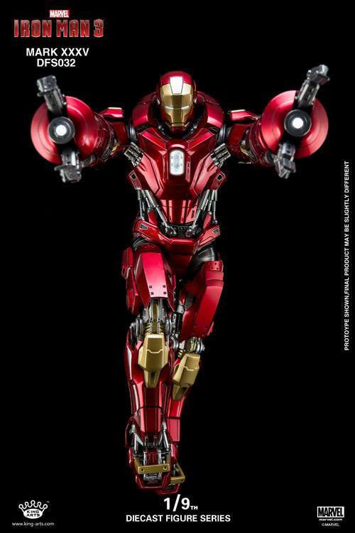 King Arts - DFS032 - Iron Man 3 - 1/9th Scale Iron Man Mark XXXV (Red Snapper) - Marvelous Toys - 10