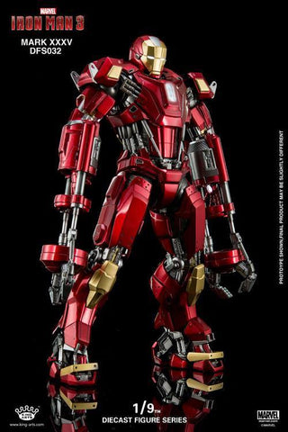 King Arts - DFS032 - Iron Man 3 - 1/9th Scale Iron Man Mark XXXV (Red Snapper) - Marvelous Toys - 1