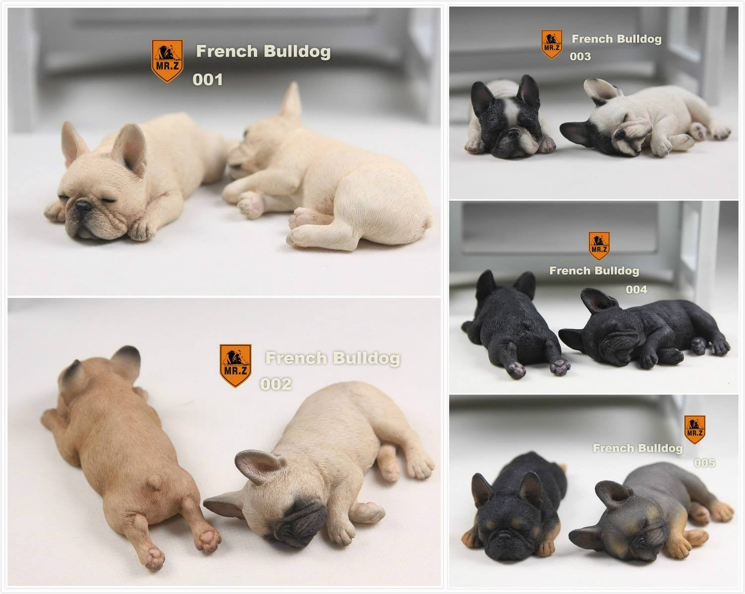 MR.Z - Real Animal Series No.9 - 1/6th Scale French Bulldog (Sleep Mode) 001-005 - Marvelous Toys - 1