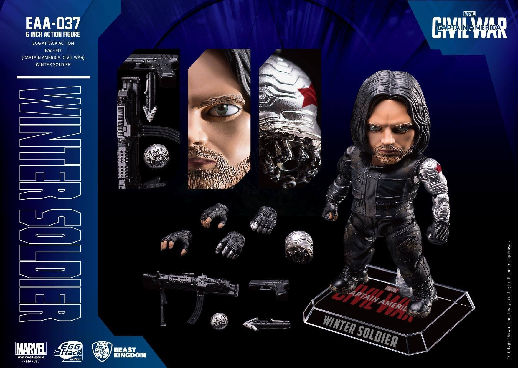 Beast Kingdom - Egg Attack Action EAA-037 - Captain America: Civil War - Winter Soldier - Marvelous Toys - 4