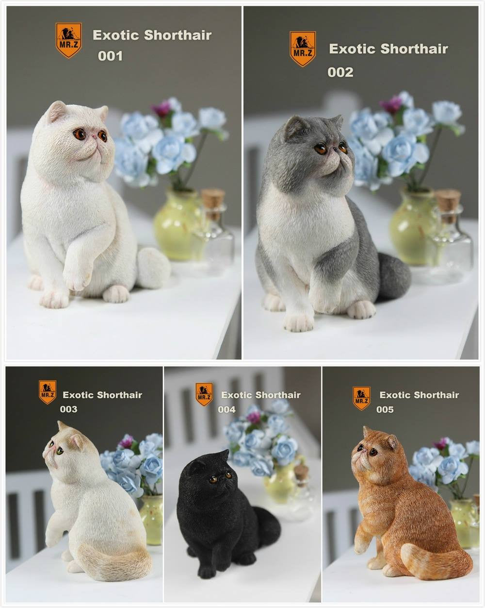 MR.Z - Real Animal Series No.8 - 1/6th Scale Exotic Shorthair Cat (Garfield) 001-005 - Marvelous Toys - 1
