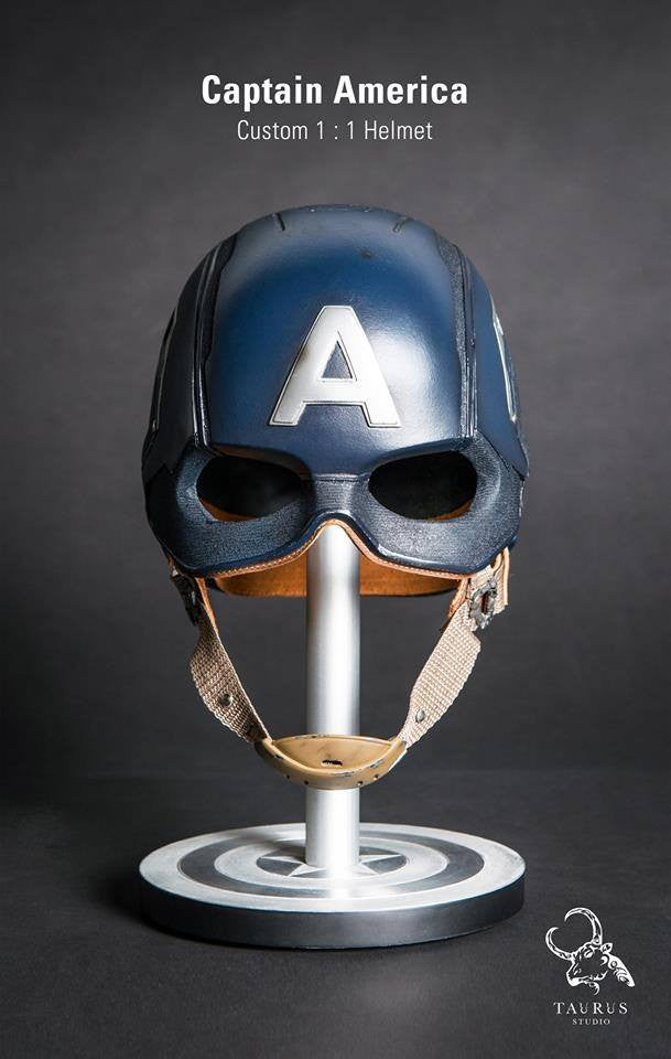 Toys Planet - Custom Captain America 1:1 Helmet - Marvelous Toys - 1