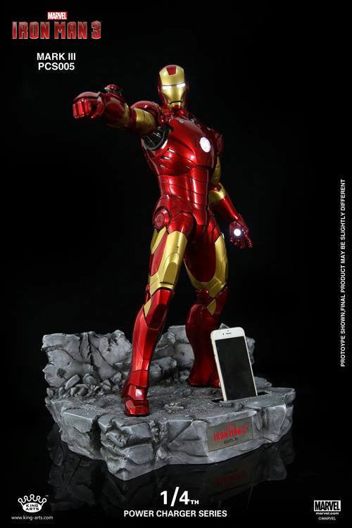 King Arts - Power Charger Series PCS005 - Iron Man 3 - 1/4th Scale Mark III Charger - Marvelous Toys - 5