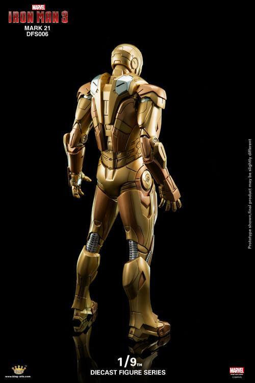 King Arts - DFS006 - Iron Man 3 - Iron Man Mark XXI (Midas) - Marvelous Toys - 5
