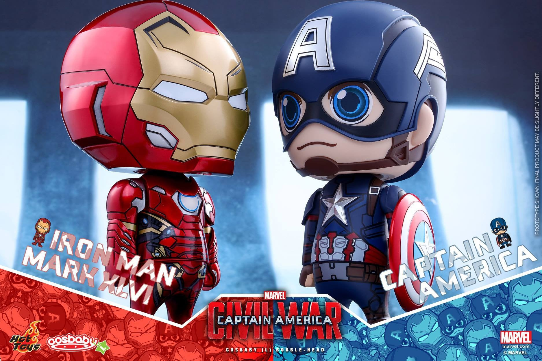 Hot Toys - COSB324 - Captain America: Civil War - Iron Man Mark XLVI Cosbaby (L) Bobble-Head - Marvelous Toys - 3