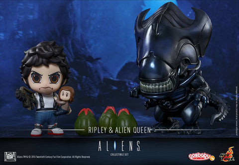 Hot Toys - COSB295 - Aliens - Ellen Ripley & Alien Queen Cosbaby (S) Set - Marvelous Toys - 1