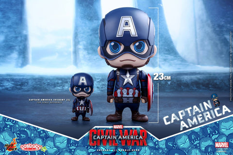 Hot Toys - COSB323 - Captain America: Civil War - Captain America Cosbaby (L) Bobble-Head - Marvelous Toys - 1