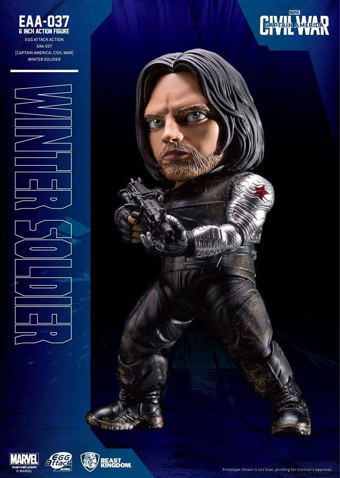 Beast Kingdom - Egg Attack Action EAA-037 - Captain America: Civil War - Winter Soldier - Marvelous Toys - 2