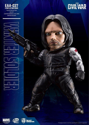 Beast Kingdom - Egg Attack Action EAA-037 - Captain America: Civil War - Winter Soldier - Marvelous Toys - 1