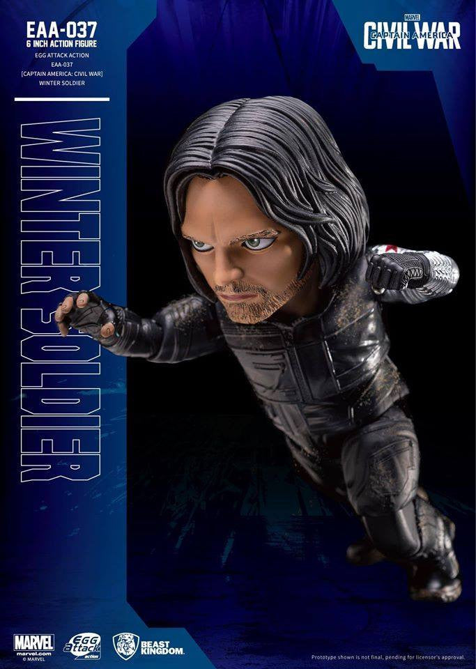 Beast Kingdom - Egg Attack Action EAA-037 - Captain America: Civil War - Winter Soldier - Marvelous Toys - 3