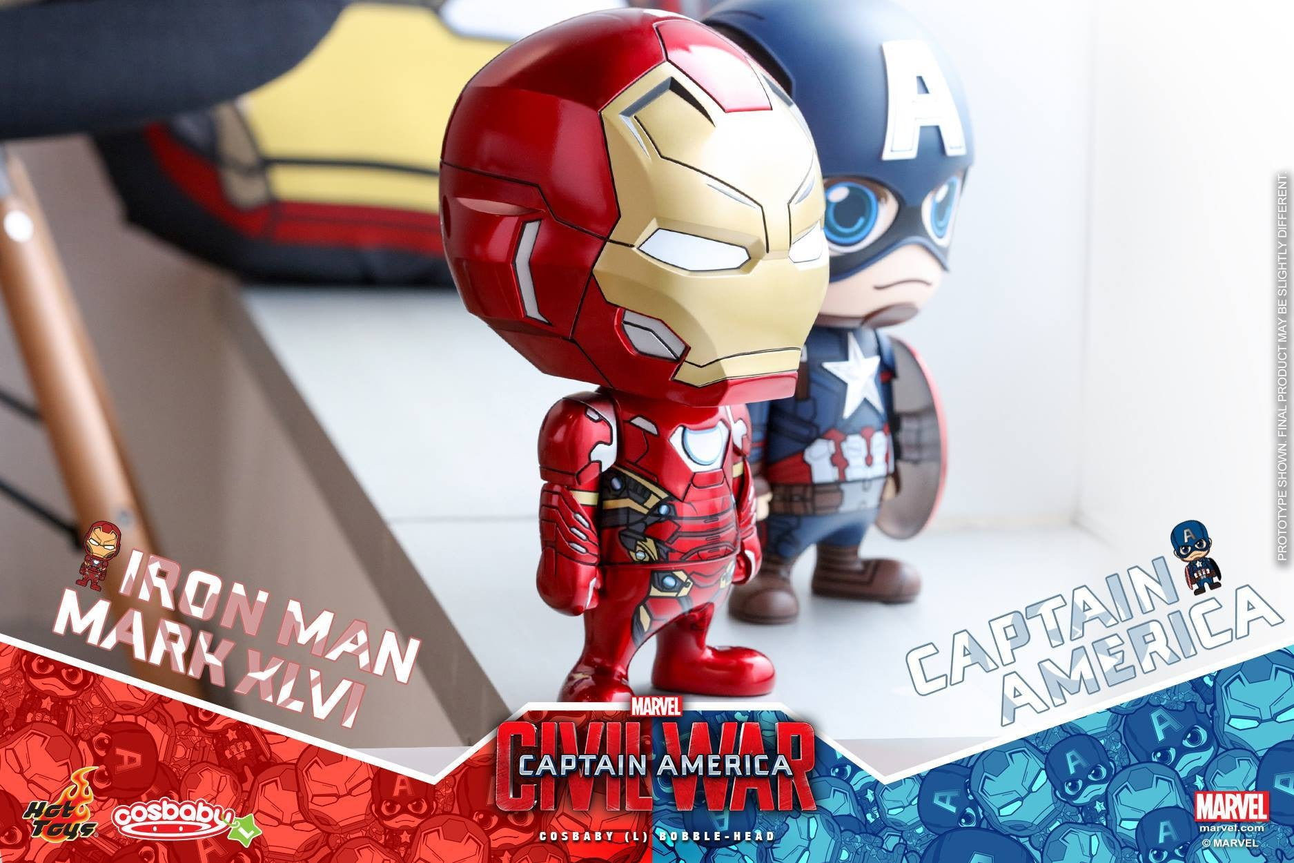 Hot Toys - COSB324 - Captain America: Civil War - Iron Man Mark XLVI Cosbaby (L) Bobble-Head - Marvelous Toys - 2