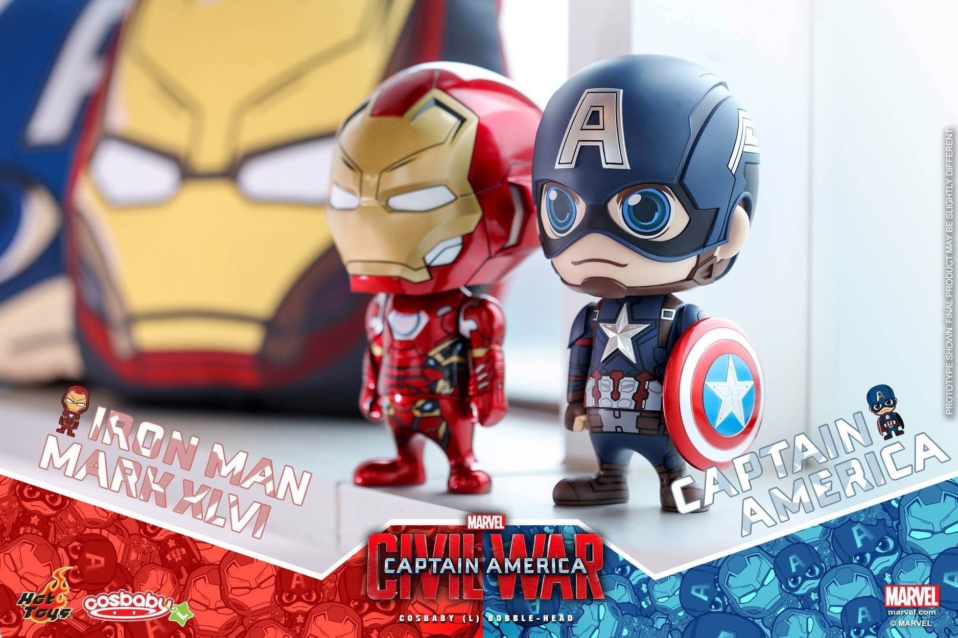 Hot Toys - COSB323 - Captain America: Civil War - Captain America Cosbaby (L) Bobble-Head - Marvelous Toys - 2