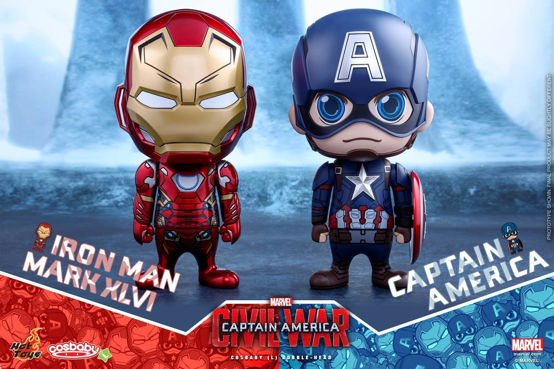 Hot Toys - COSB324 - Captain America: Civil War - Iron Man Mark XLVI Cosbaby (L) Bobble-Head - Marvelous Toys - 5