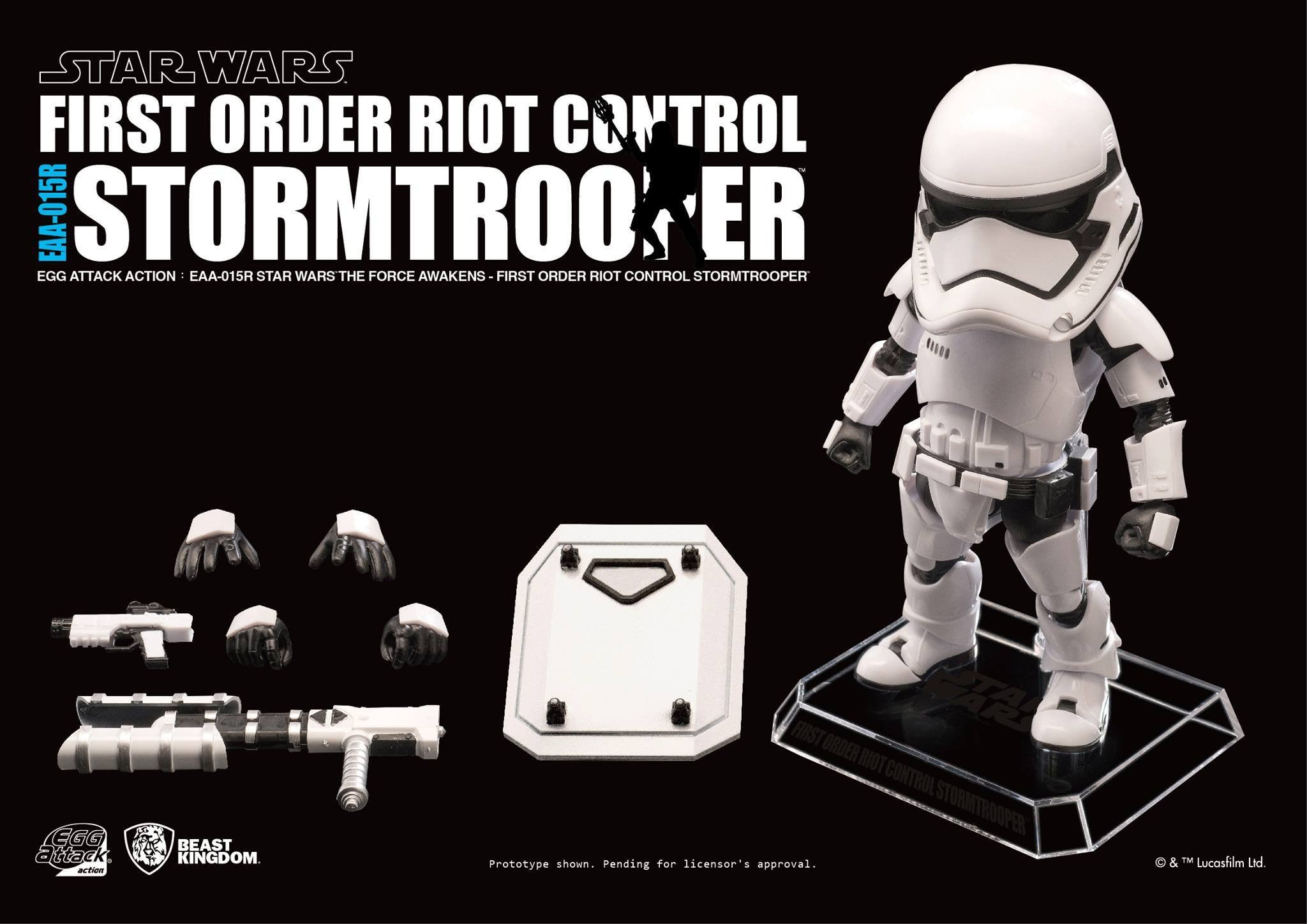Egg Attack Action - Star Wars: The Force Awakens - EAA-015R Riot Control Stormtrooper - Marvelous Toys - 6