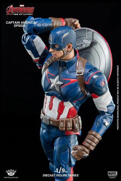 King Arts - DFS026 - Avengers: Age of Ultron - 1/9th Scale Captain America - Marvelous Toys - 3