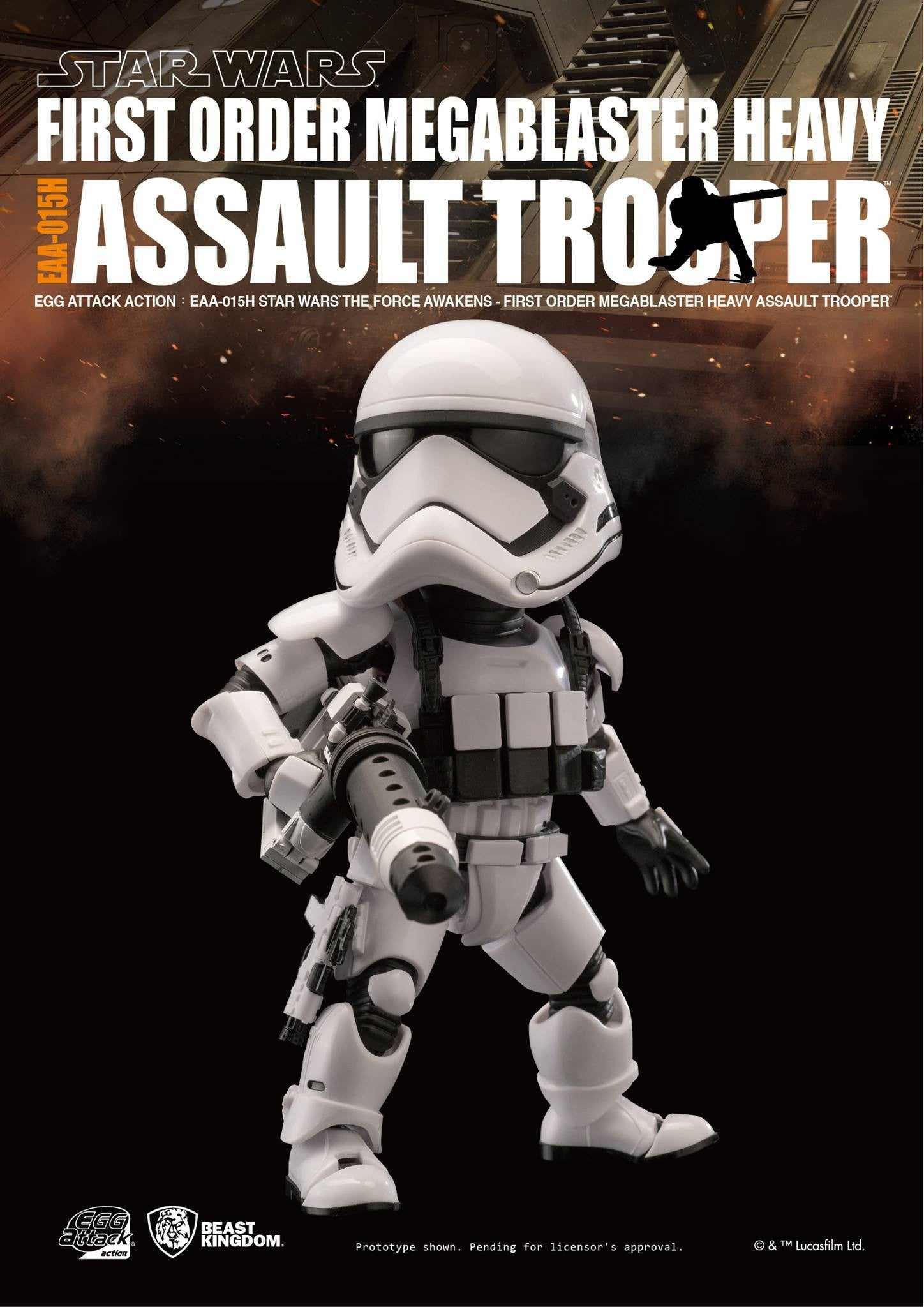 Egg Attack Action - EAA-015H - Star Wars: The Force Awakens - Megablaster Heavy Assault Trooper - Marvelous Toys - 3