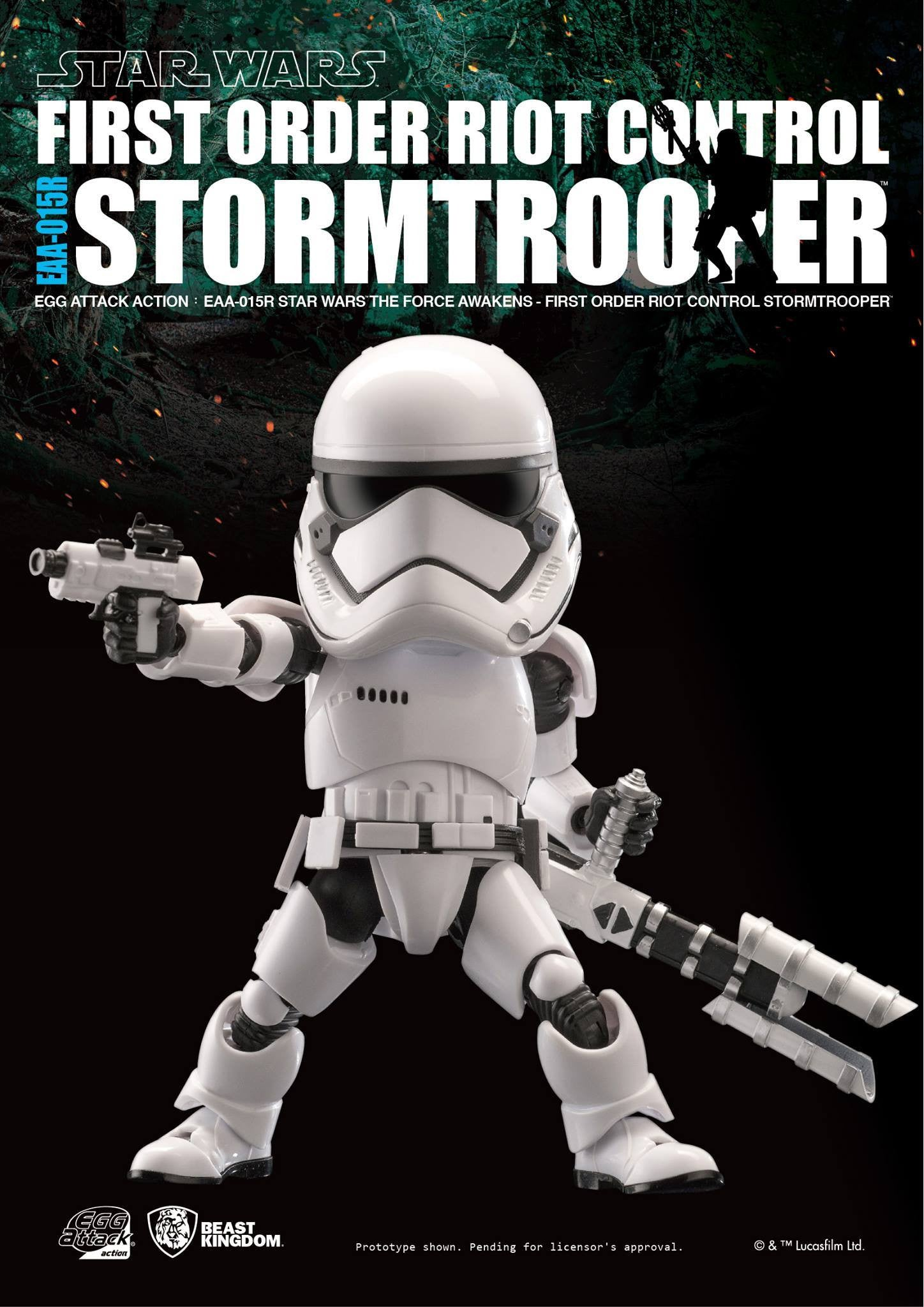 Egg Attack Action - Star Wars: The Force Awakens - EAA-015R Riot Control Stormtrooper - Marvelous Toys - 3