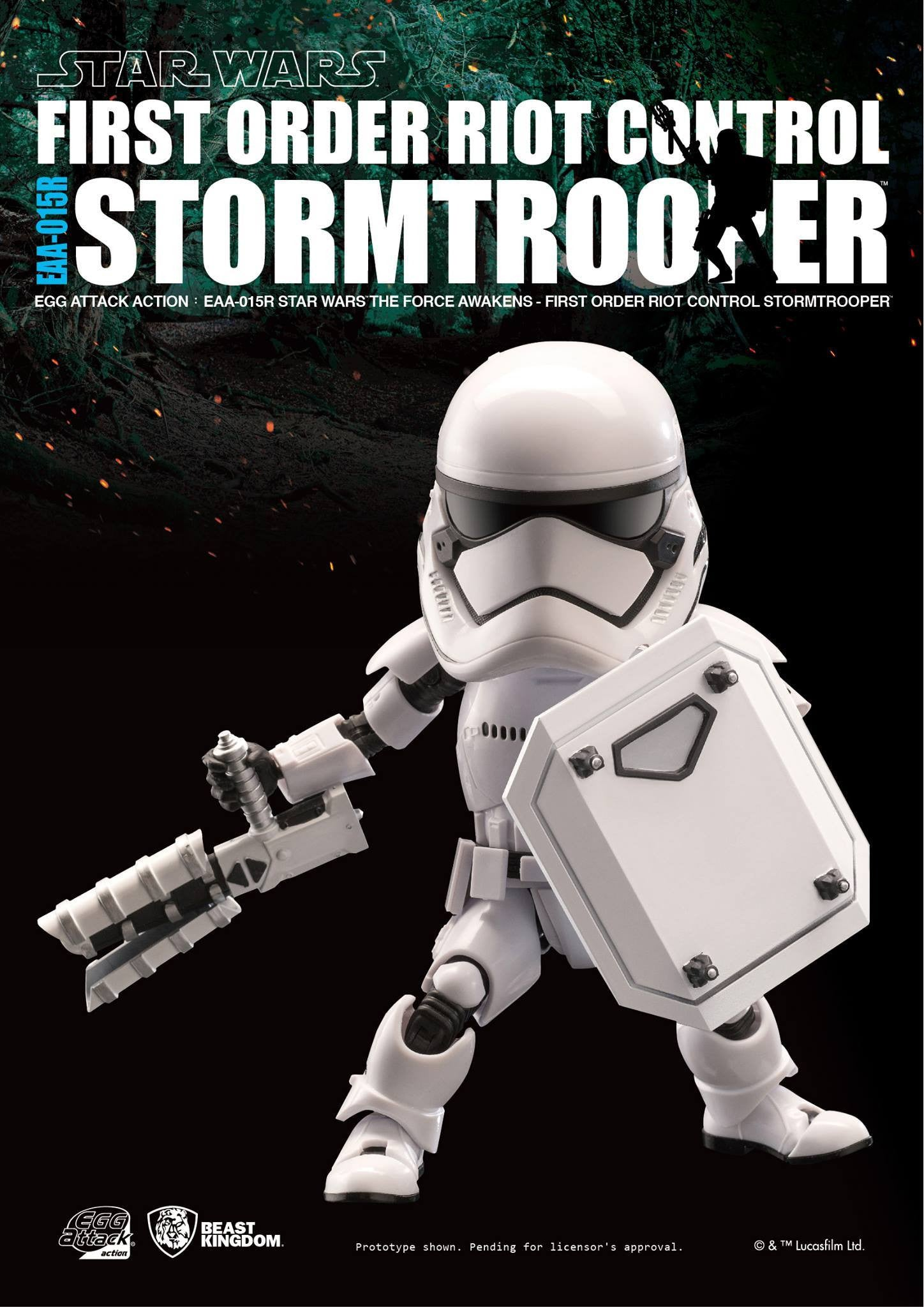 Egg Attack Action - Star Wars: The Force Awakens - EAA-015R Riot Control Stormtrooper - Marvelous Toys - 4