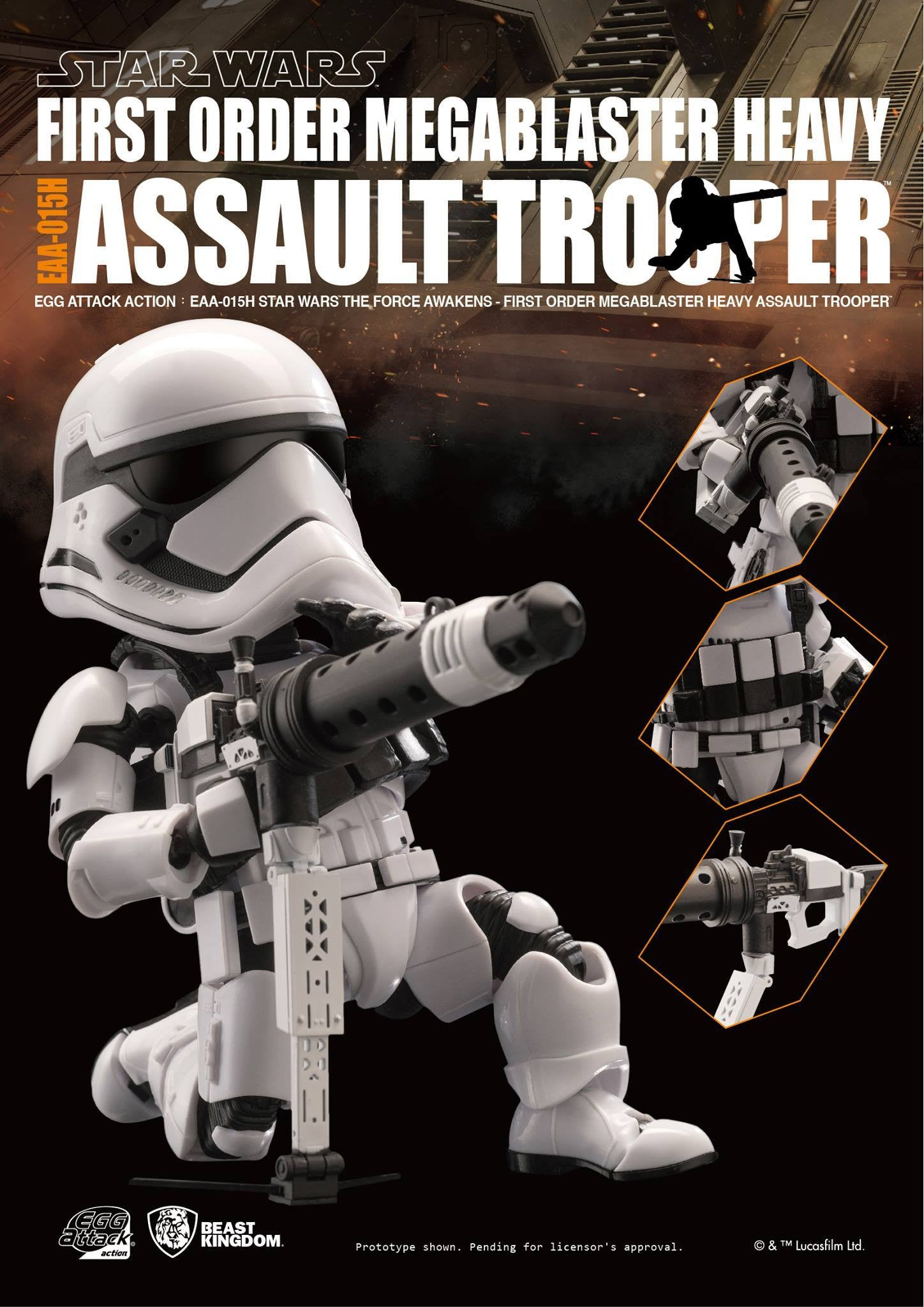 Egg Attack Action - EAA-015H - Star Wars: The Force Awakens - Megablaster Heavy Assault Trooper - Marvelous Toys - 4