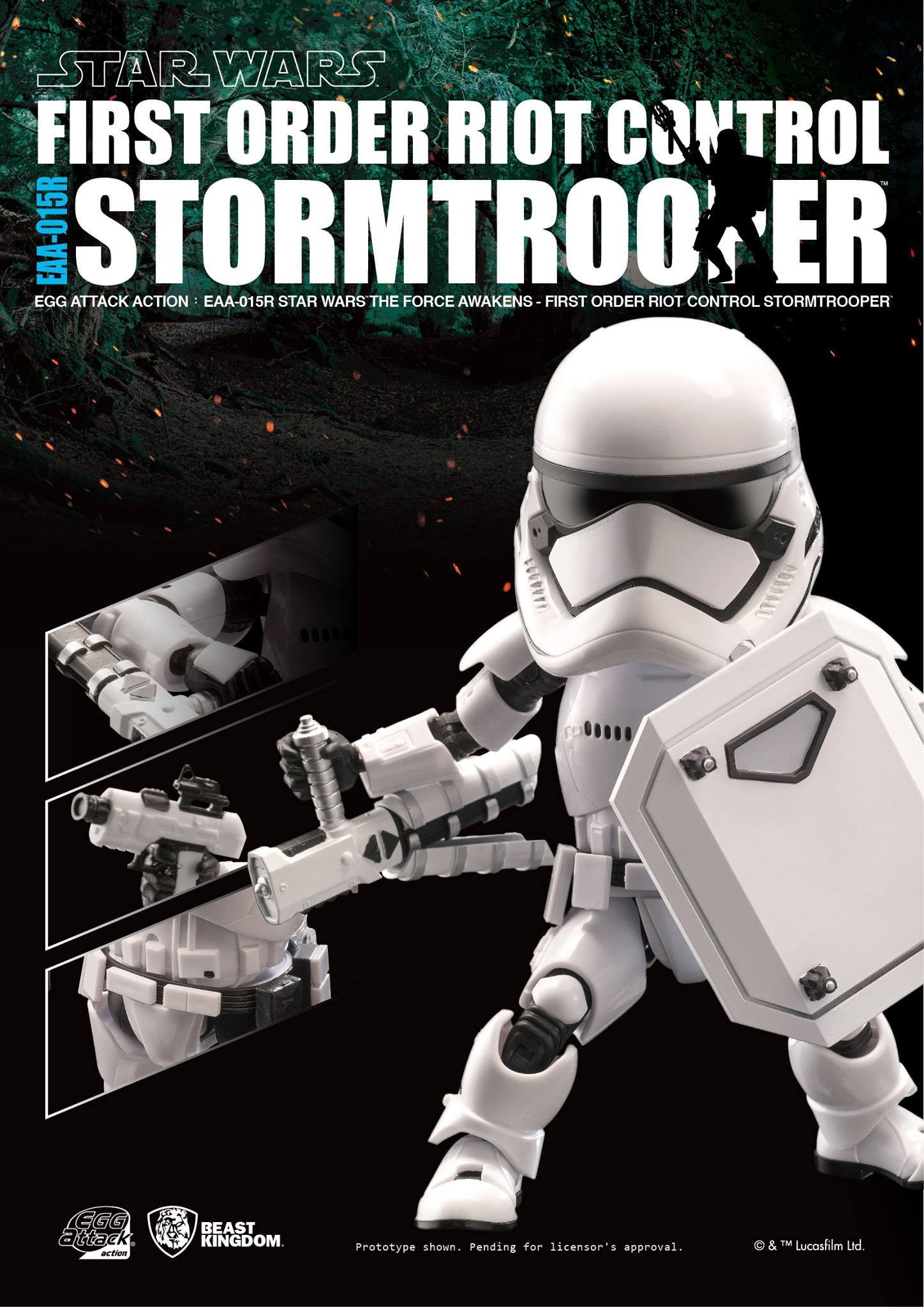 Egg Attack Action - Star Wars: The Force Awakens - EAA-015R Riot Control Stormtrooper - Marvelous Toys - 5