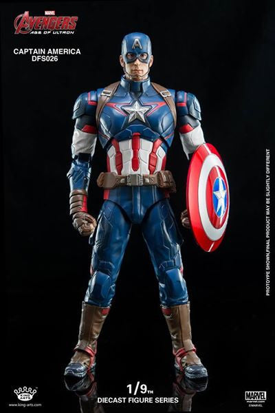 King Arts - DFS026 - Avengers: Age of Ultron - 1/9th Scale Captain America - Marvelous Toys - 11