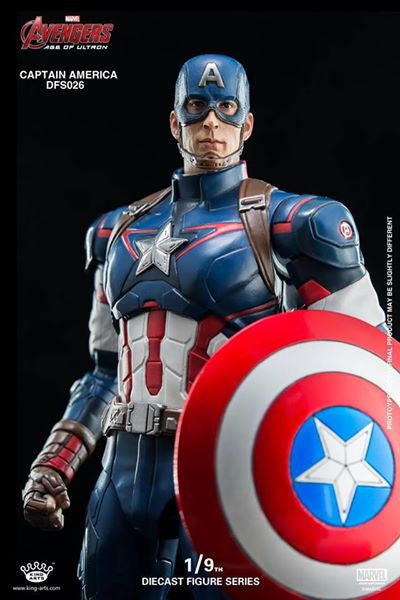 King Arts - DFS026 - Avengers: Age of Ultron - 1/9th Scale Captain America - Marvelous Toys - 12
