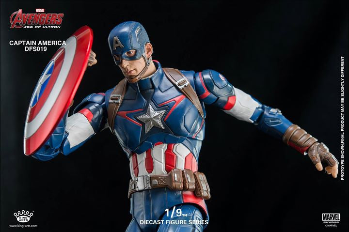 King Arts - DFS026 - Avengers: Age of Ultron - 1/9th Scale Captain America - Marvelous Toys - 13