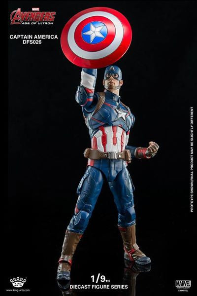 King Arts - DFS026 - Avengers: Age of Ultron - 1/9th Scale Captain America - Marvelous Toys - 14