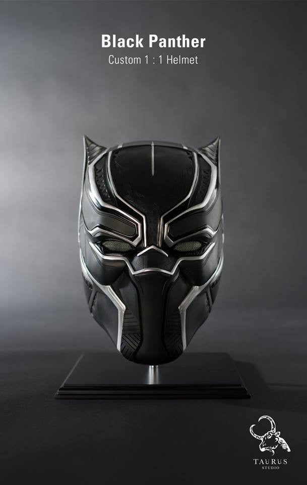 Custom 1:1 Black Panther Helmet - Marvelous Toys - 2