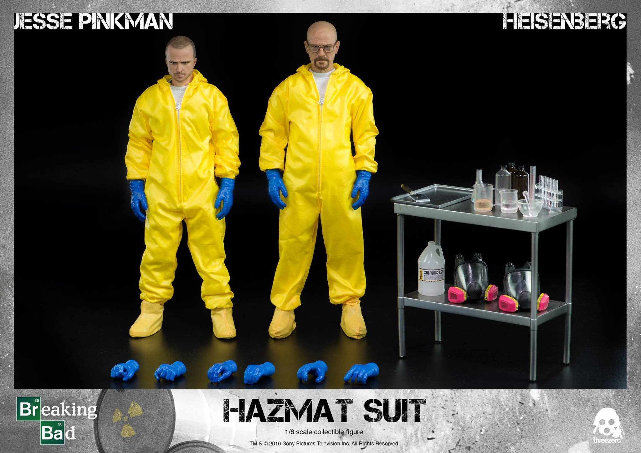 ThreeZero - Breaking Bad - Heisenberg & Jesse Hazmat Suit Combo - Marvelous Toys - 28