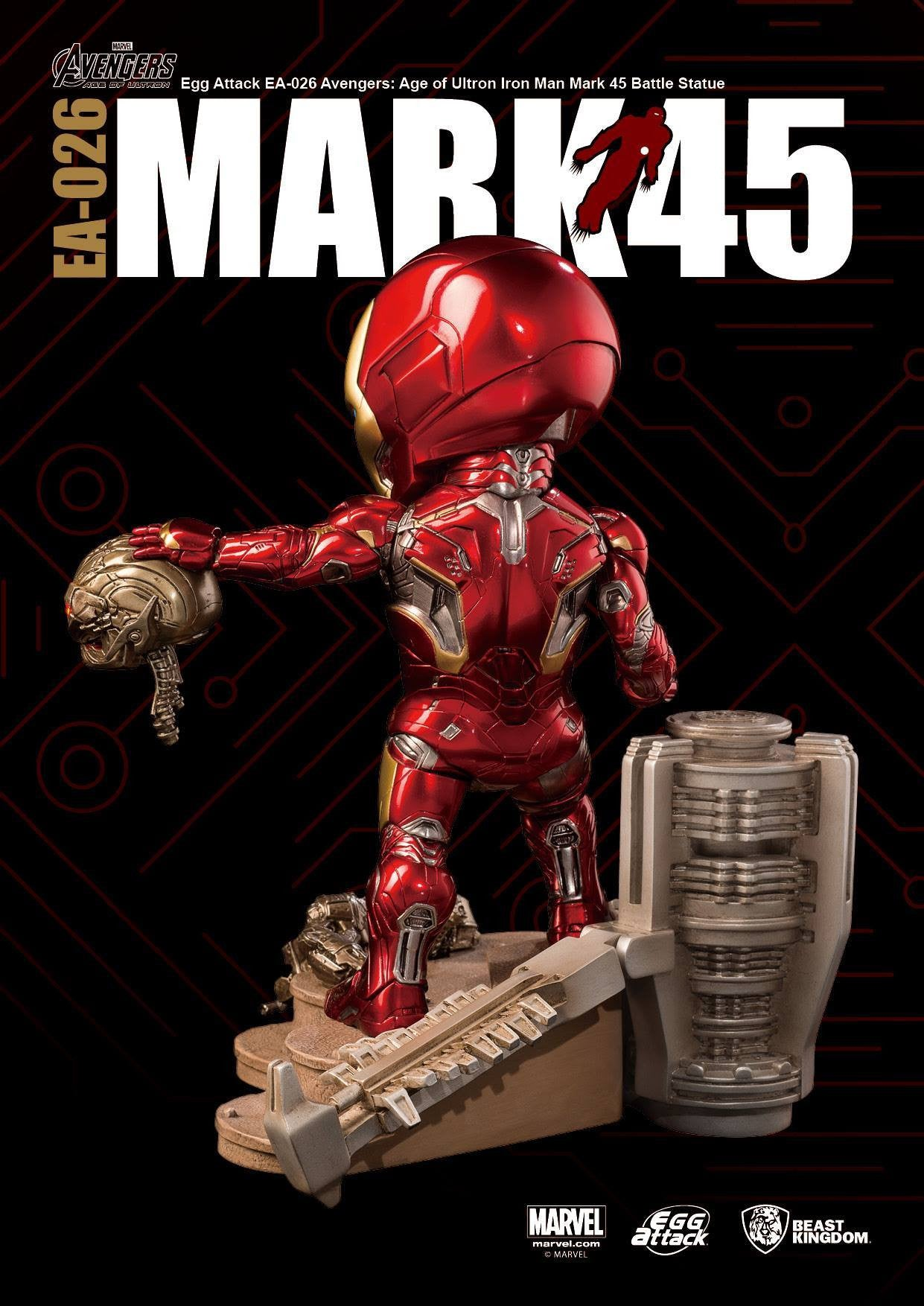 Egg Attack - EA-026 - Avengers: Age of Ultron - Mark 45 (XLV) Battle Statue - Marvelous Toys - 4