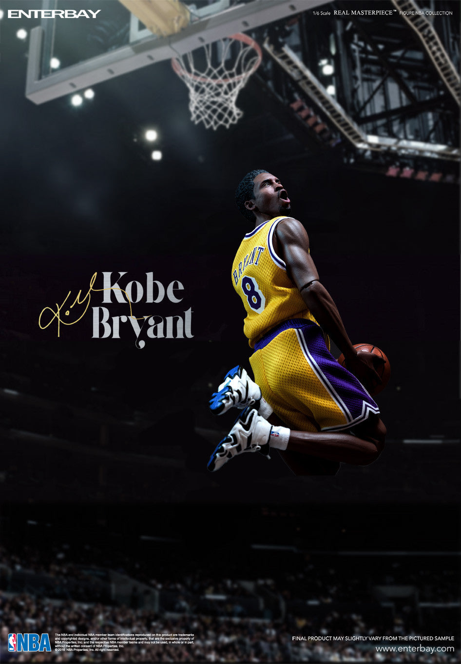 (IN STOCK) Enterbay - NBA Collection - Kobe Bryant - Marvelous Toys - 3