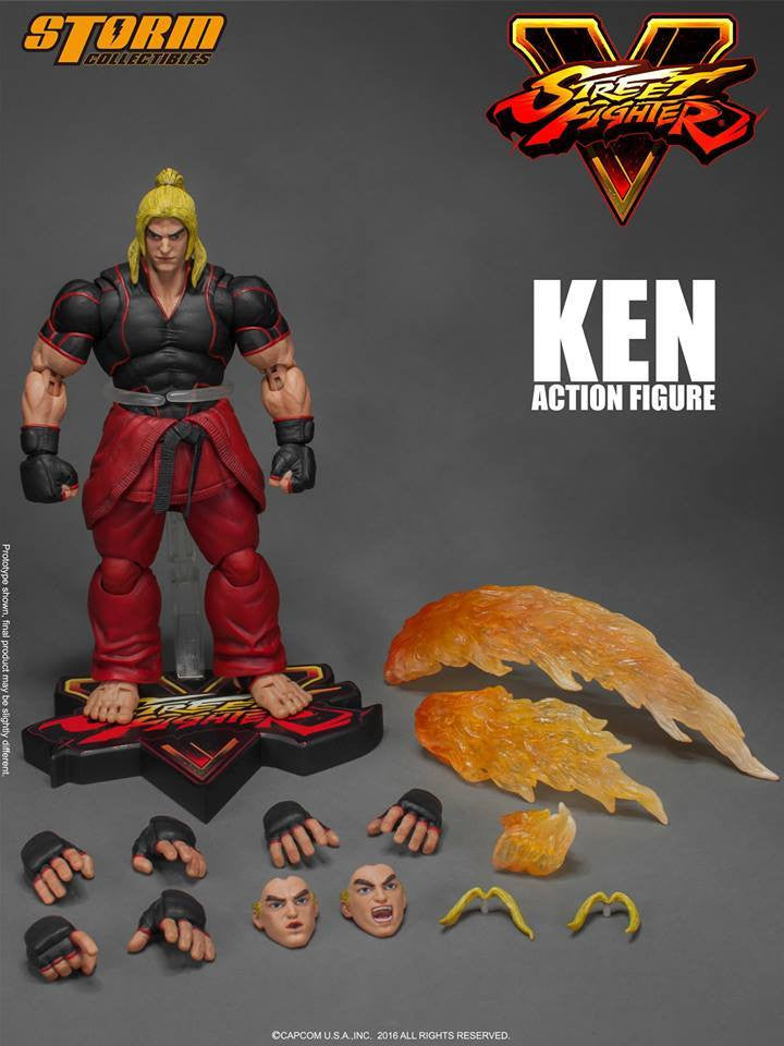 Storm Collectibles - 1:12 Scale Action Figure - Street Fighter V - Ken - Marvelous Toys - 18