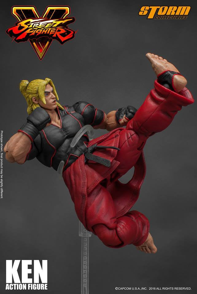 Storm Collectibles - 1:12 Scale Action Figure - Street Fighter V - Ken - Marvelous Toys - 4
