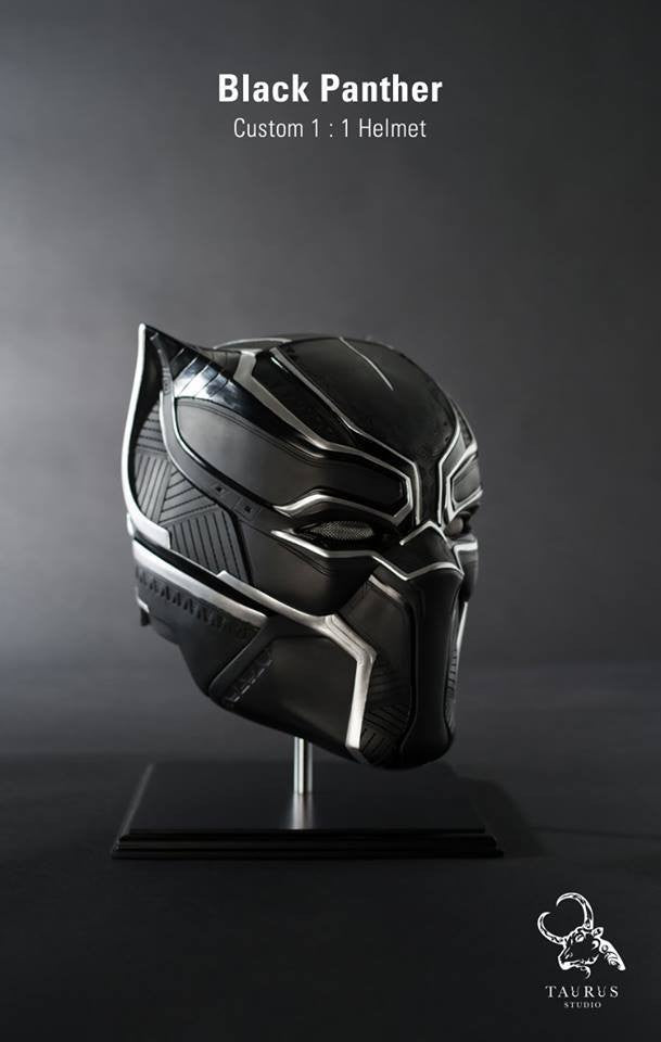 Custom 1:1 Black Panther Helmet - Marvelous Toys - 3