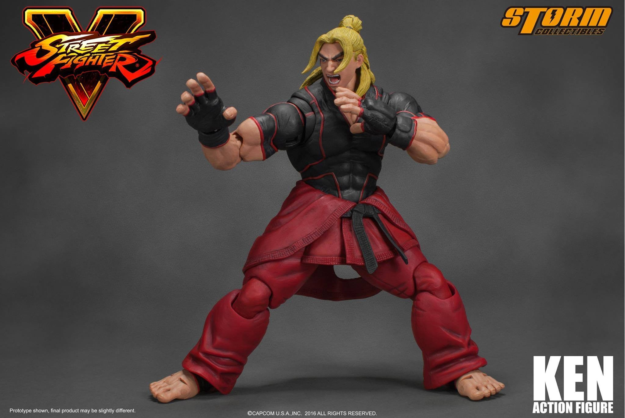 Storm Collectibles - 1:12 Scale Action Figure - Street Fighter V - Ken - Marvelous Toys - 8