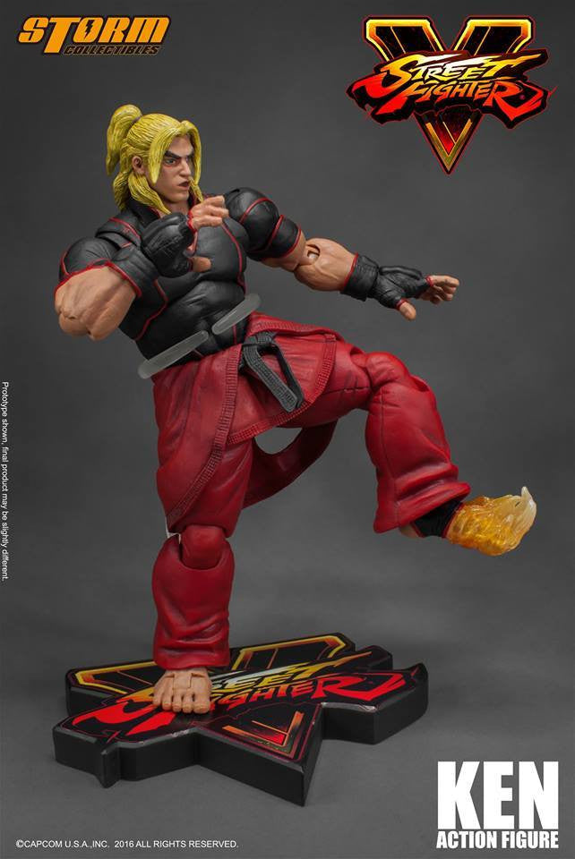 Storm Collectibles - 1:12 Scale Action Figure - Street Fighter V - Ken - Marvelous Toys - 9