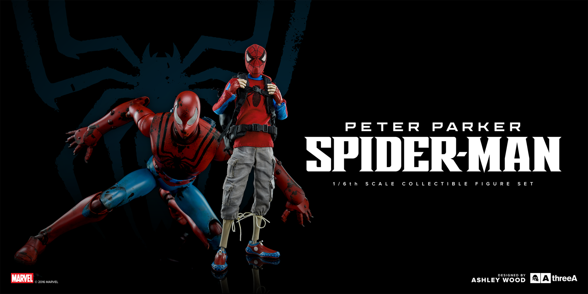 ThreeA - Marvel - Peter Parker and Spider-Man (Set of 2) - Marvelous Toys - 2