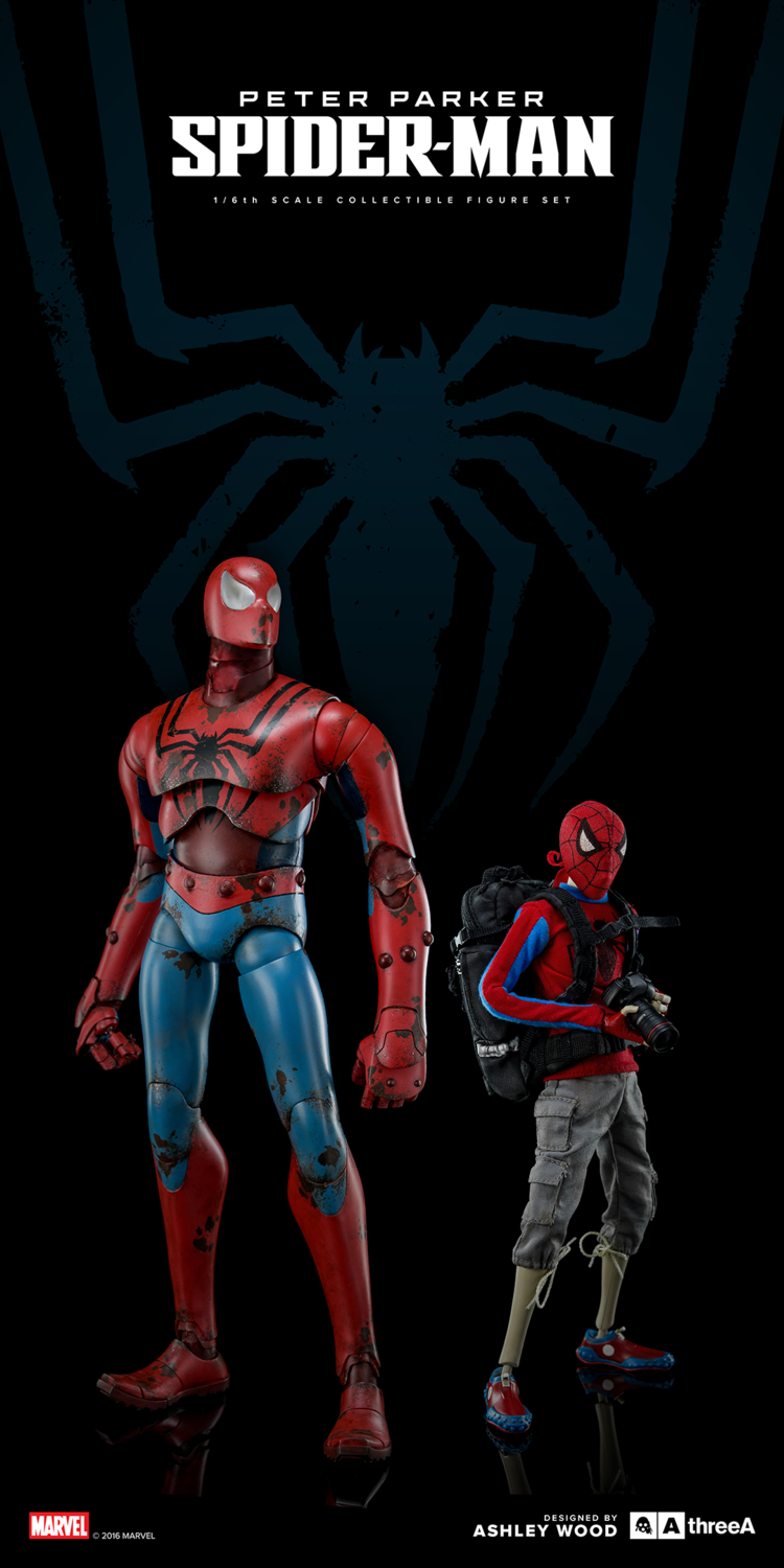 ThreeA - Marvel - Peter Parker and Spider-Man (Set of 2) - Marvelous Toys - 1