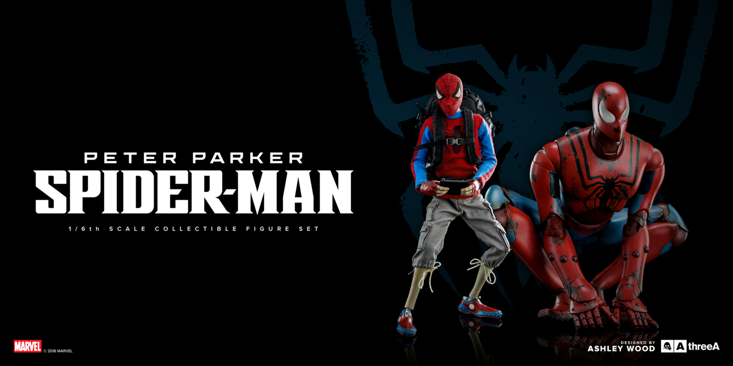 ThreeA - Marvel - Peter Parker and Spider-Man (Set of 2) - Marvelous Toys - 3