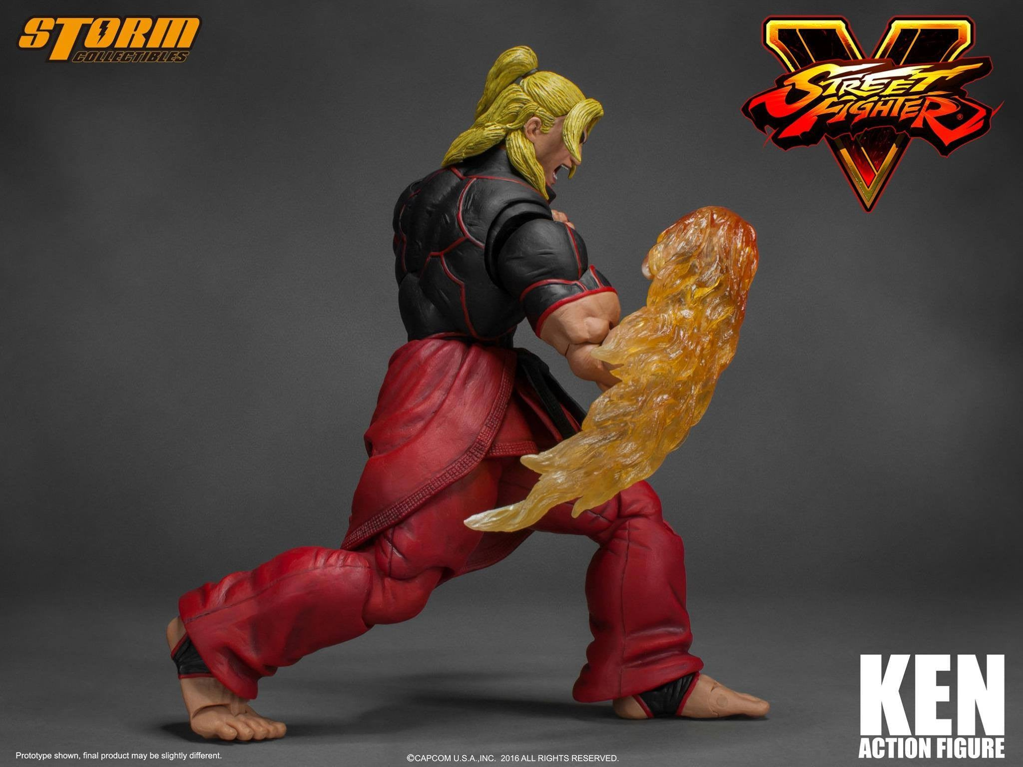 Storm Collectibles - 1:12 Scale Action Figure - Street Fighter V - Ken - Marvelous Toys - 10
