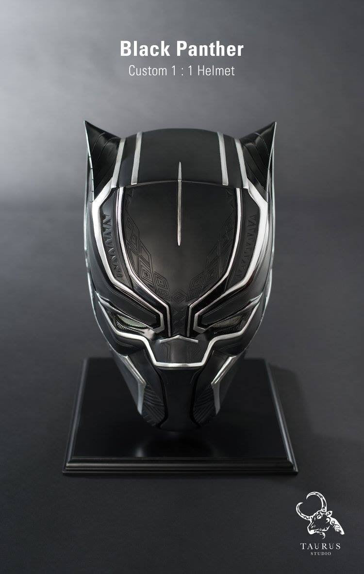 Custom 1:1 Black Panther Helmet - Marvelous Toys - 5