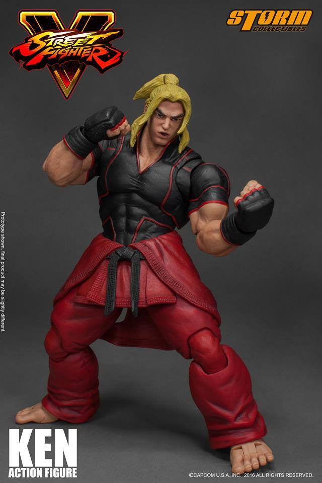 Storm Collectibles - 1:12 Scale Action Figure - Street Fighter V - Ken - Marvelous Toys - 12