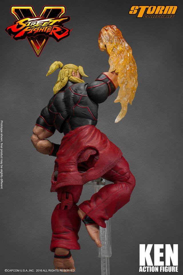 Storm Collectibles - 1:12 Scale Action Figure - Street Fighter V - Ken - Marvelous Toys - 13