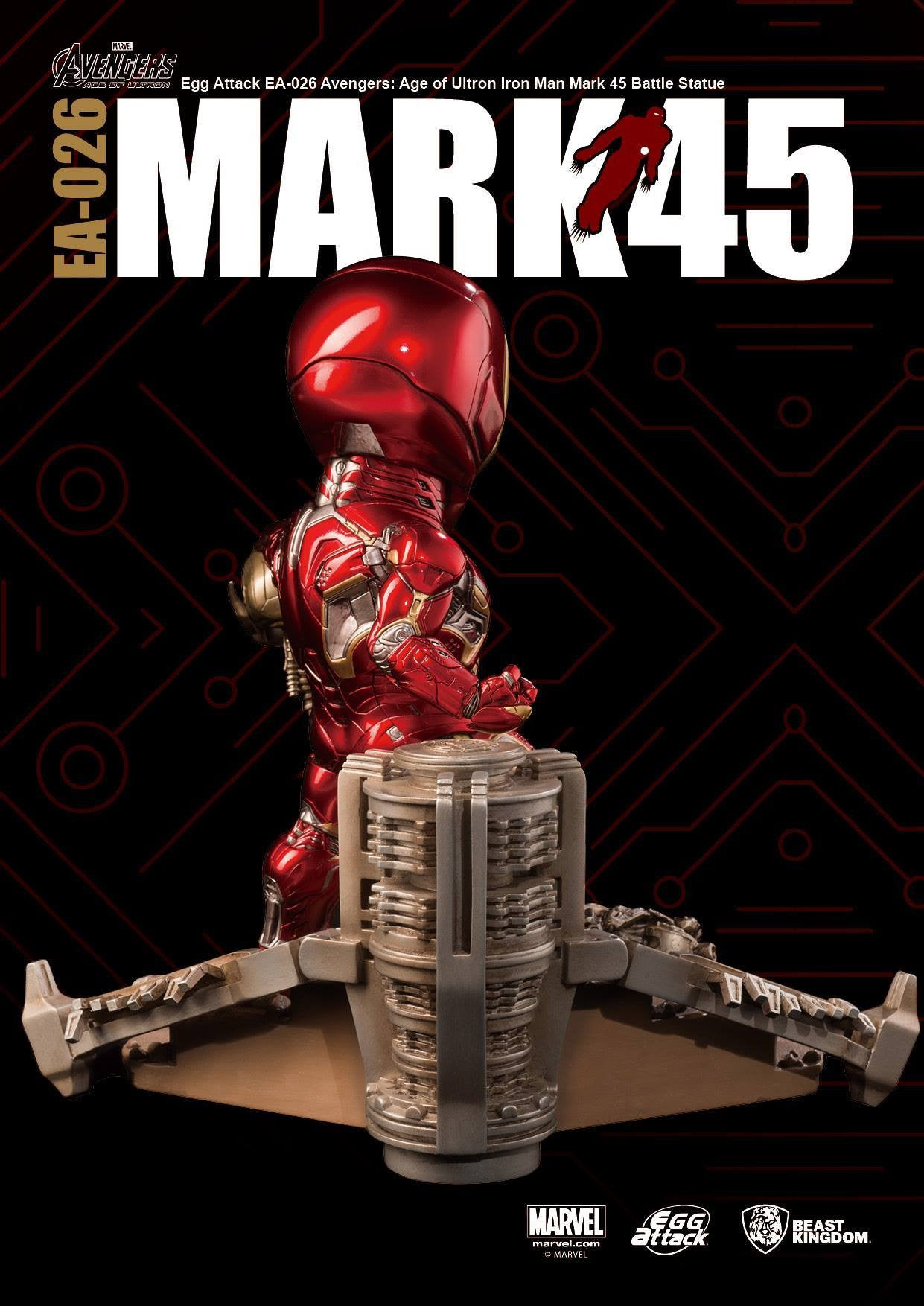 Egg Attack - EA-026 - Avengers: Age of Ultron - Mark 45 (XLV) Battle Statue - Marvelous Toys - 5