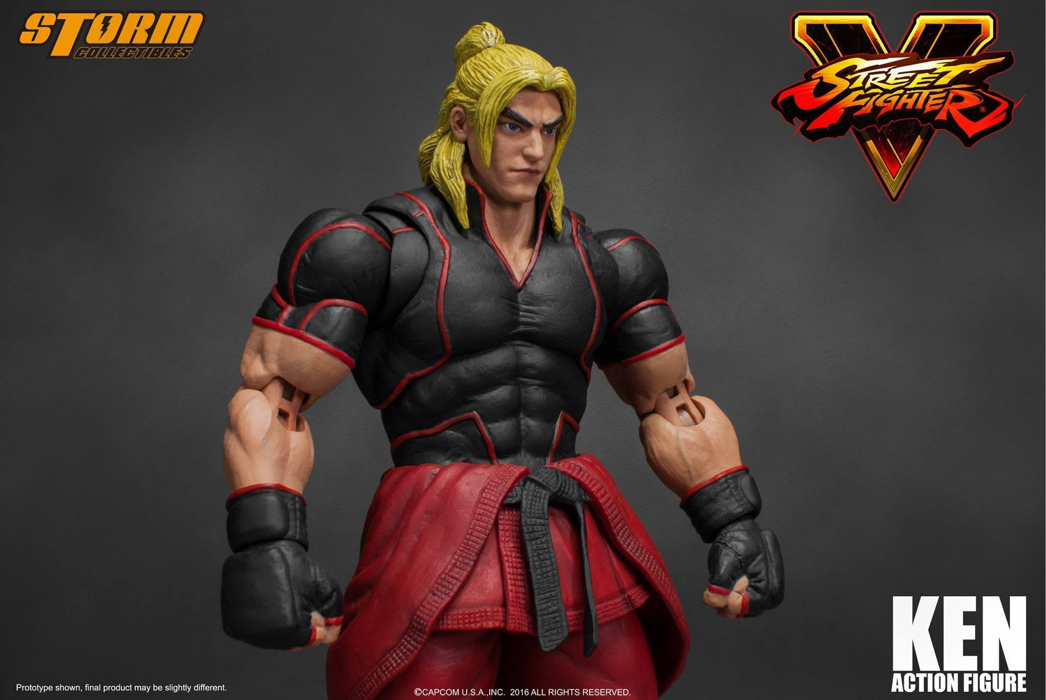 Storm Collectibles - 1:12 Scale Action Figure - Street Fighter V - Ken - Marvelous Toys - 14